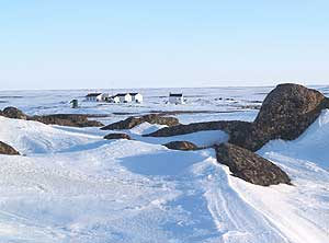 The cabins in the Canadian Arctic where the authors spent the summer photos by Edward Moss
