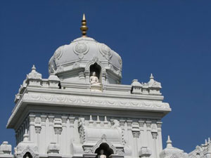 A temple with carvings of Lord Bahubali