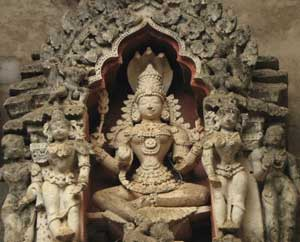 Temple sculptures from the Hoysala Empire