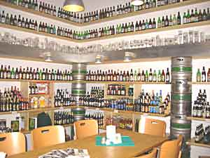 Inside Pivovarsky Klub: Just a sample of the over 200 varieties of beer available at Pivovarsky Klub, a beer boutique. (Photo courtesy of Pivovarsky Klub).