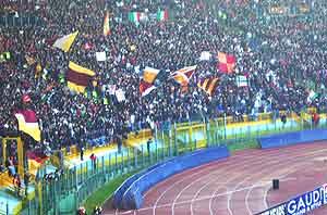 The Curva Scud, the ultra's devoted fan club