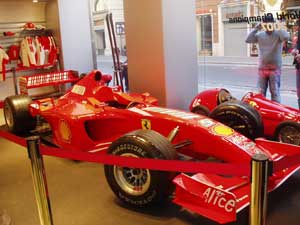 In the Ferrari Store