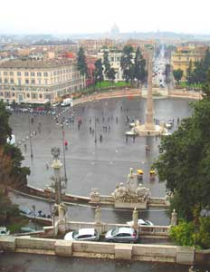 The Piazza del Popolo