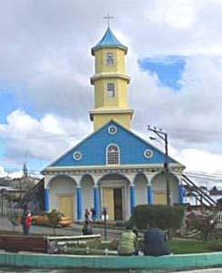 A church in Chiloe, Chile