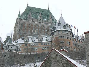 The Chateau Frontenac, the glorious castle/hotel in the center of Quebec City.