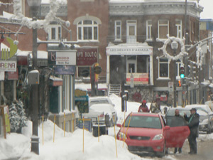 Street scene in Quebec City.