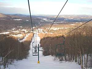 The two-seater lifts offer breathtaking views at Smugglers Notch in Vermont.