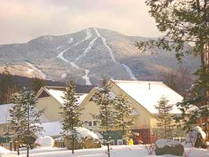 A view of Madonna Mountain at Smugglers' Notch Vermont