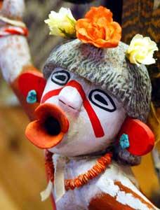 Likeness of a Hopi 'Koshare' or 'sacred clown'
