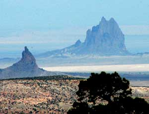 Shiprock in New Mexico figures in many of Hillerman's mystery novels.