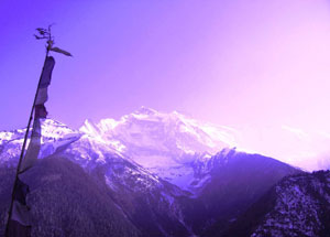 Unearthly light over Annapurna - photos by William L. Pohl