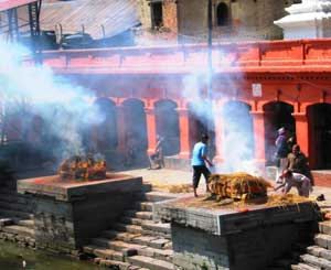 Cremations in Kathmandu