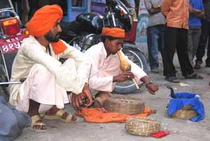 Snake charmers in Kathmandu