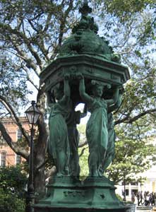 A fountain at the French Market in New Orleans