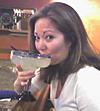 Jacqueline Church enjoys a cocktail.