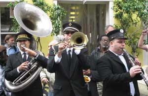 A marching band in New Orleans - photo by Jacqueline Church