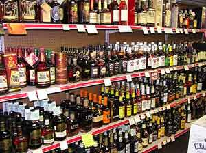 Liquor World in Bardstown has a more than admirable selection of bourbon.  Photos by Leslie Patrick
