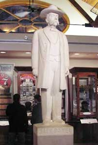 The man himself – Jack Daniel's statue in the museum at the distillery