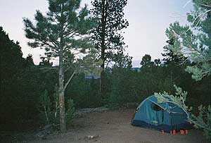 A campground near Flaming Gorge, Utah