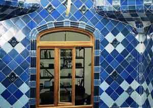 A window on Gaudi's Casa Batlló in Barcelona