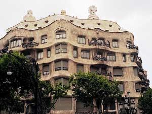 Gaudi's Casa Milà in Barcelona