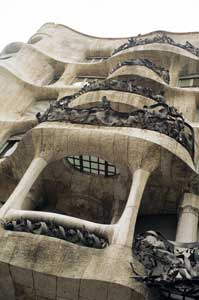 Another view of Gaudi's La Pedrera in Barcelona