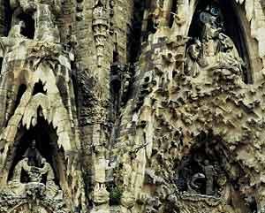 Facades on Gaudi's Sagrada Familia in Barcelona - photos by Lola Akinmade