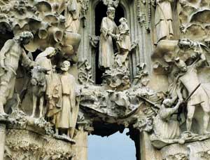 The Nativity Facade at Gaudi's Sagrada Familia