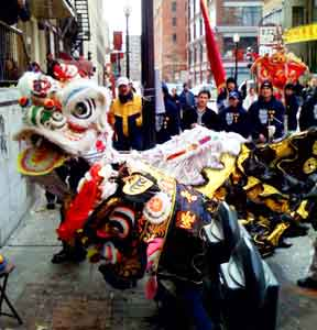 The Lion Dance in Boston's Chinatown district
