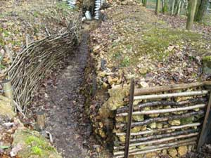 The willow-walled French trenches of the 1918 battlefield of Saillant in Saint-Mihiel