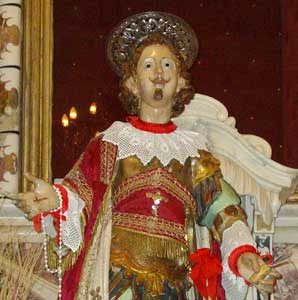 The statue of Saint Efisio