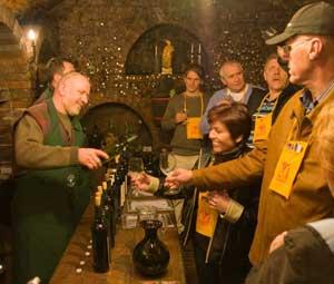 A wine tasting in Moravia in the Czech Republic