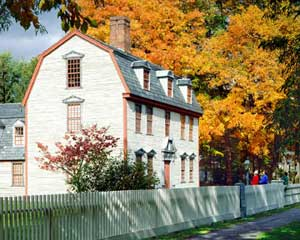 Dwight House, one of eleven house museums that make up Historic Deerfield