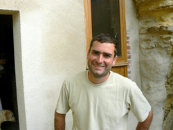 Vincent Careme, maker of fine white and sparkling wines in the Loire Valley.