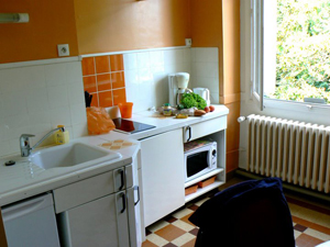 My little apartment kitchen had all I needed to cook my own dinners in France.