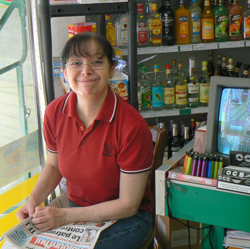 Shopkeeper in Tours, everyone was friendly and helpful, even if they didn't speak any English.
