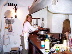 The kitchen of the Villa Pandolfini