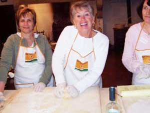 Students get hours of hands-on experience preparing authentic Tuscan dishes.