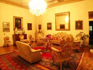 The living room at the Villa Pandolfini