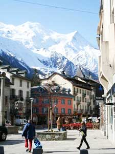 Chamonix with the Alps beyond