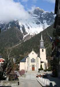 The church in Chamonix- photos by Kent St. John
