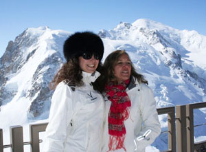 Day trippers in Chamonix