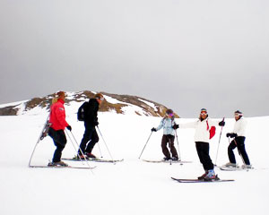 On the slopes at Val d'Isere