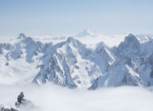 The French Alps from Mount Blanc