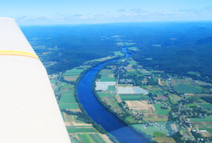 A bird's eye view of the Connecticut River Valley
