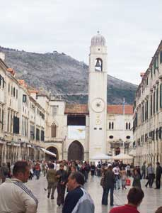 Dubrovnik's main drag, alive with a summertime vibe