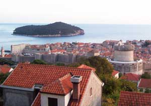 Overlooking the walled town of Dubrovnik
