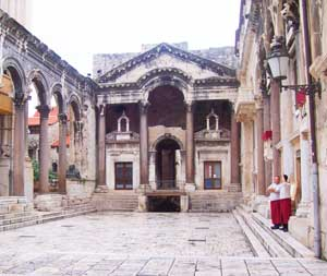 The marble walls of Diocletian's Palace, Split