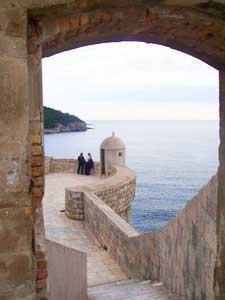 Exploring the walls of Dubrovnik