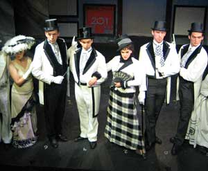 Opening day at Ascot in the Barn Playhouse production of 'My Fair Lady'
